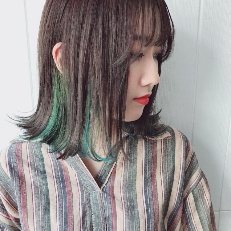 緑の髪色で作る透明感♡ナチュラル個性派髪色に挑戦したいアナタに♡