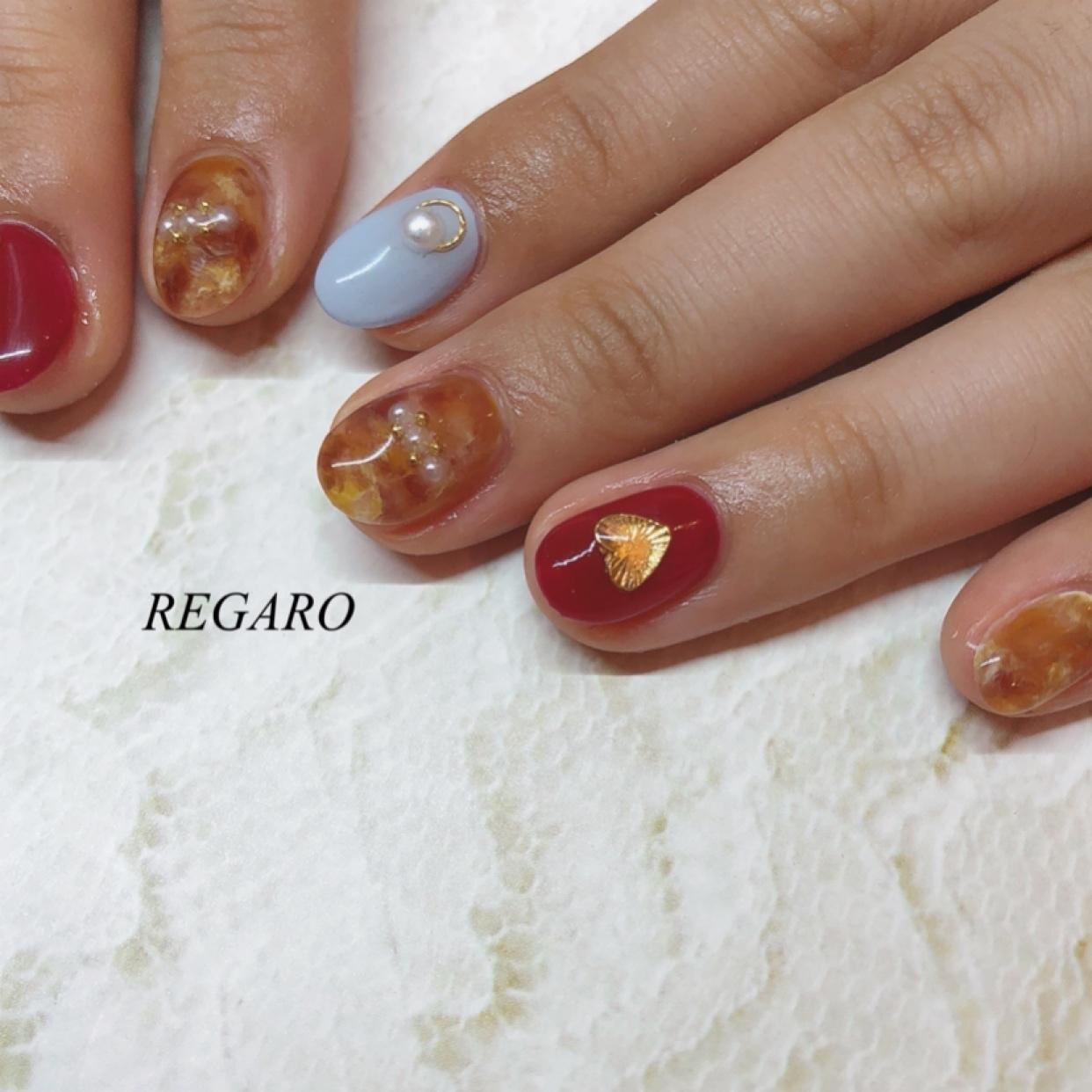 . べっ甲の季節( ¨̮ )❤ ,  #nails  #ジェル  #ジェルネイル  #ネイル  #ネイルサロン #べっ甲