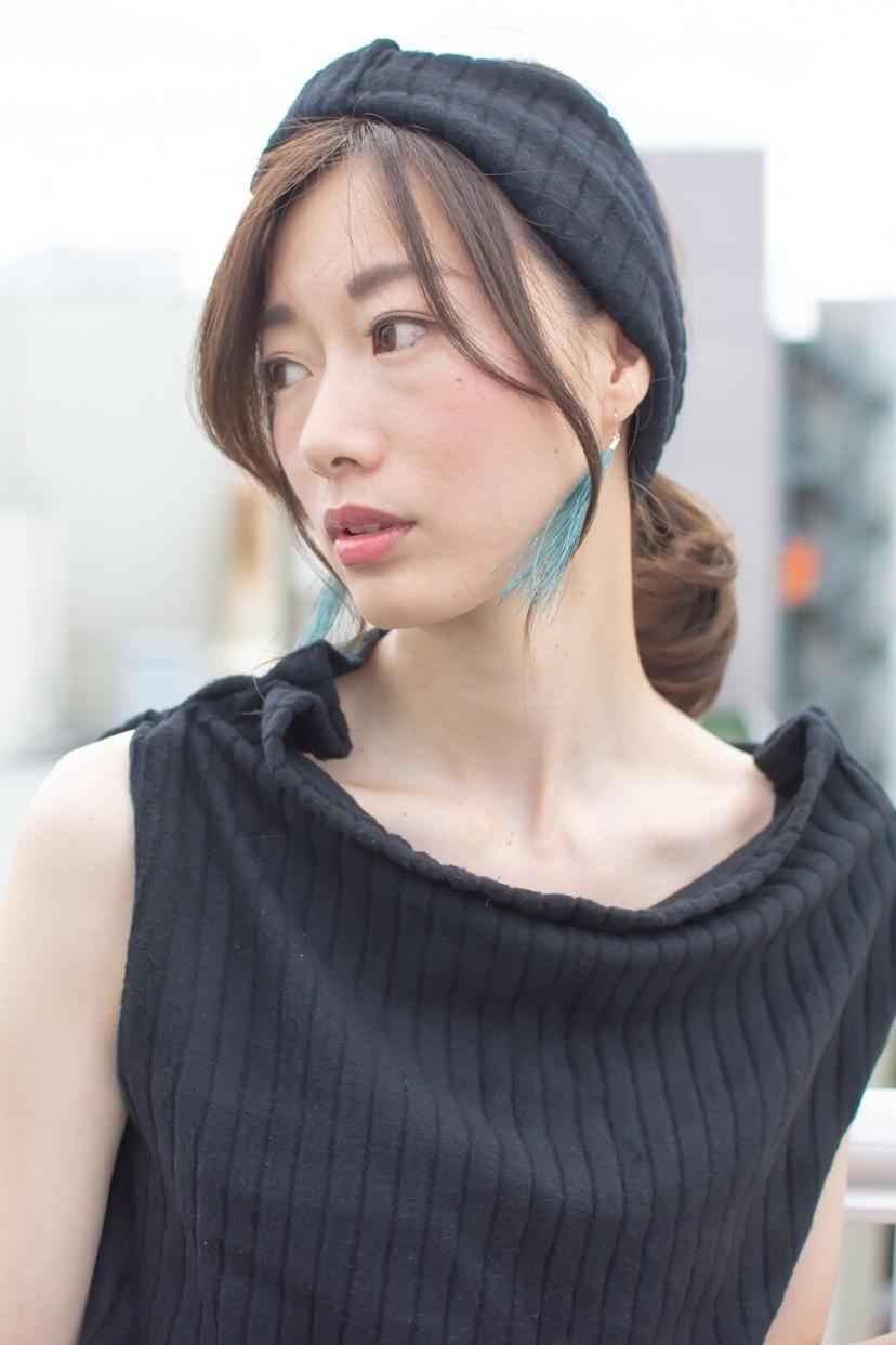 noine スタイリスト斉藤です。 屋上で、撮影ー!! HUEカラーで、カラーしました。 「洋服」も、「ターバン」も作りました!!  「ピアス」作りました。 サロンで販売しています。  ホットペッパークーポンで、 クーポンあります!!  #女っぽ#ピアス#オークル#カラー #オフィス #ナチュラル #ミディアム #女子会#大人かわいい #ショートボブ #ブラウン #うざバング #コンテスト #丸顔#ショート#HUEカラー#ヒューグロス #カジュアルおしゃれ#ターバン
