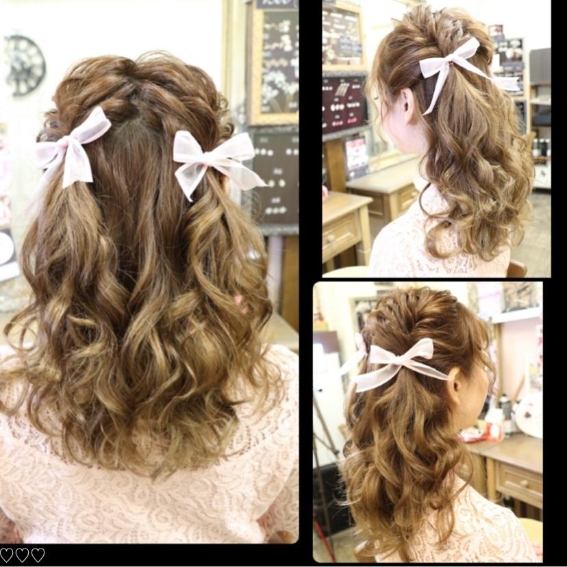 ✩フィッシュボーンでハーフアップツイン❥᷁)͜͡˒⋊✩ スタイリスト→kimie☪︎⋆。˚✩  今オススメのハーフアップツインです💜 リボンでガーリー度アップ♪  #chaiteeeee#hair#hairset#hairmake#hairarrange#hairstyle #instagood #autumn #ヘアセット#ヘアメイク#ヘアアレンジ#ヘアアレンジ動画#ロングヘア#ハーフアップ#フィッシュボーン#リボンアレンジ#撮影#イベント#ライブ#発表会#レストラン#結婚式#二次会#水商売#新宿#歌舞伎町#ホスト#キャバクラ#キャバ嬢#ヘアセットサロン