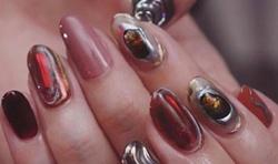 #手造りパーツ #ミラー #クリア #手描きアート #カスタマイズ #ニュアンス #個性派デザイン #男性ネイリスト  #さいたま市与野ネイル #おまかせデザイン #ネイルスタジオリーベル #nails #ジェルネイル #ネイルデザイン #arine_nail #beauty