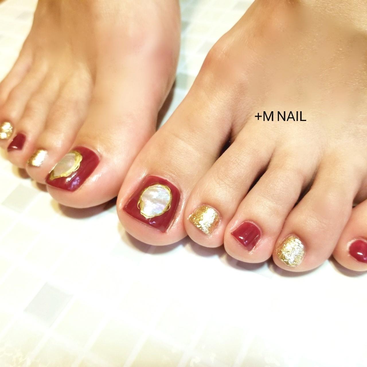 #nails #ジェル #ジェルネイル #ネイル #ネイルサロン #ネイルデザイン #大人ネイル #大人可愛い #シェルネイル #フットネイル