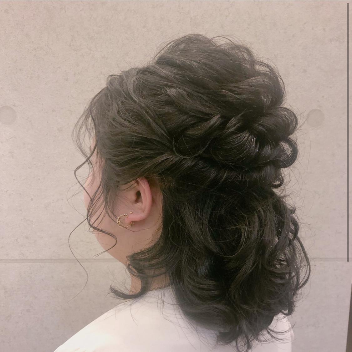 #お呼ばれヘア #ヘアセット #ヘア #ヘアアレンジ #アレンジ #結婚式 #パーティー #ディナー #波ウェーブ #くるりんぱ #編み込み #ハーフアップ #巻き #メイク #コスメ #宝塚 #東京 #銀座 #ginza  #ロレアル #ミルボン #かわいい #おしゃれ #フォト #華やか #へああれんじ #hair
