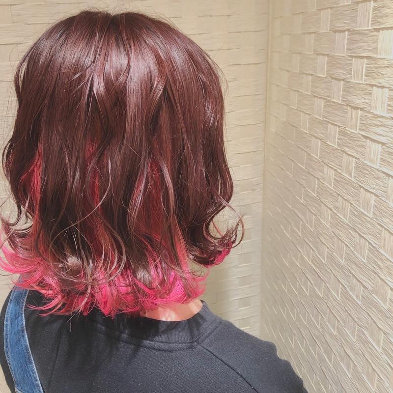 【インナーカラー×ヘアアレンジ】でかわいい♡のチラ見せを狙う♪