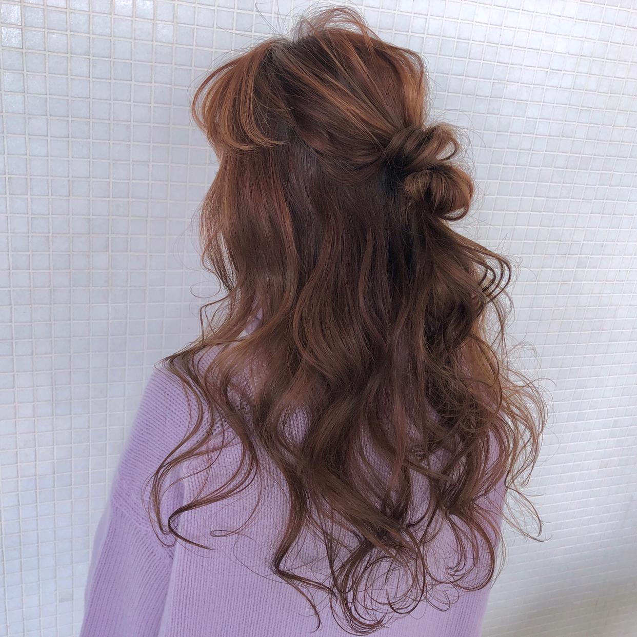 kawamura_takashi_cam ロングのハーフアップ ヘアアレンジ&ヘアセット 河村タカシ #hairarrangecam #hairarrange #hairset #hair #ヘアアレンジ #へアセット #ヘア #関西 #大阪 #心斎橋 #hairdresser #美容師 #サロンモデル募集 #サロモ #おくれ毛 #簡単ヘアアレンジ