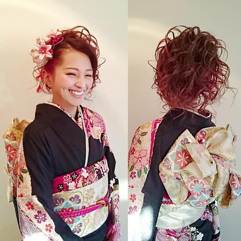 成人 式 髪型 ギャル