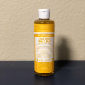 ドクターブロナー マジックソープ シトラスオレンジ 237mL(その他洗顔料)を使ったクチコミ(1枚目)