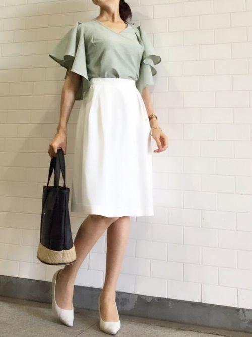 社会人必見!レディースオフィスカジュアルのスカート着こなし大攻略の5枚目の画像
