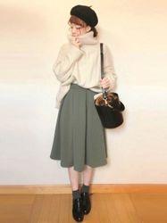 冬こそかわいく♡愛されモテファッションはスカートコーデで♡