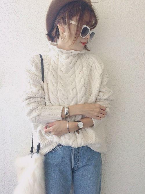この冬必見!【ざっくりニット】で作る、モテる女の鉄板コーデ♡の12枚目の画像