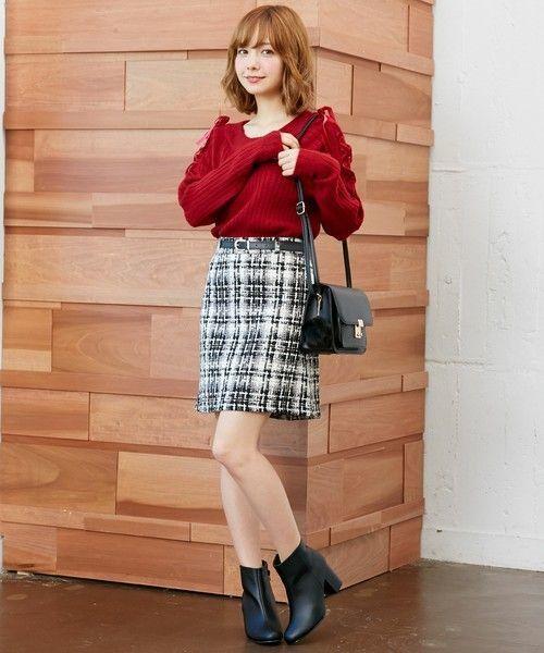 ≪今シーズントレンドNO.1≫台形スカートの着こなし技♡の12枚目の画像