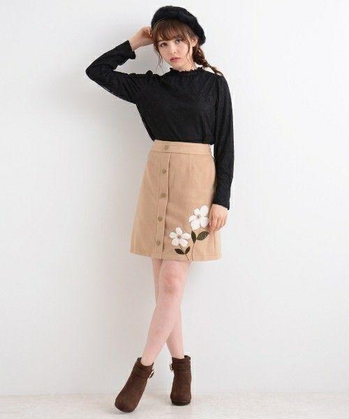 ≪今シーズントレンドNO.1≫台形スカートの着こなし技♡の1枚目の画像