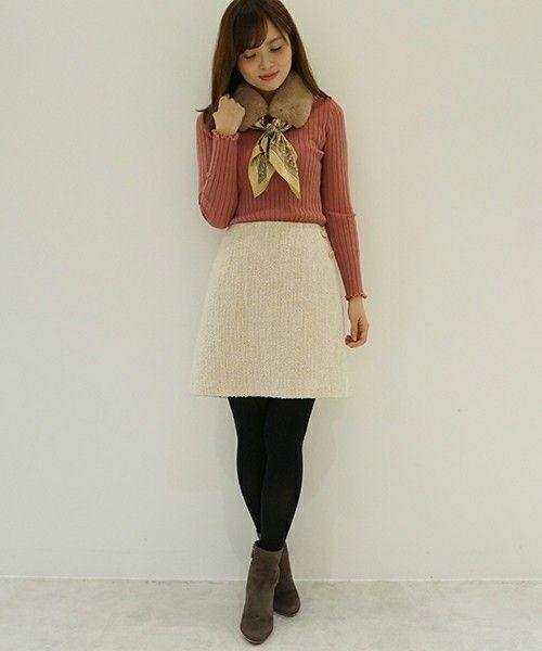≪今シーズントレンドNO.1≫台形スカートの着こなし技♡の8枚目の画像