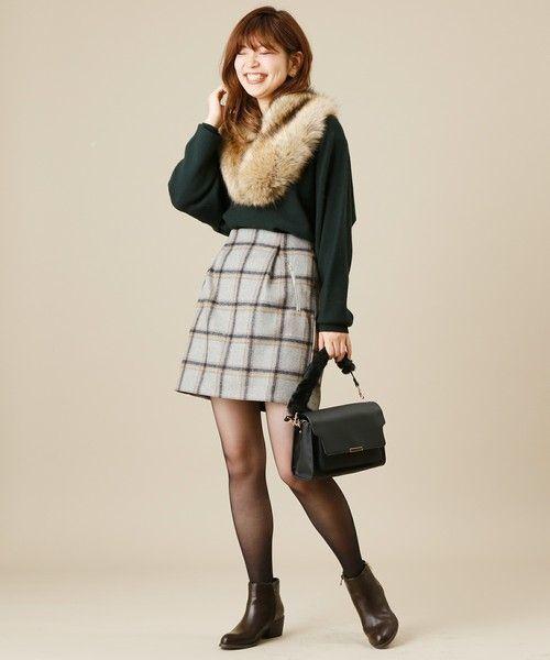 ≪今シーズントレンドNO.1≫台形スカートの着こなし技♡の9枚目の画像
