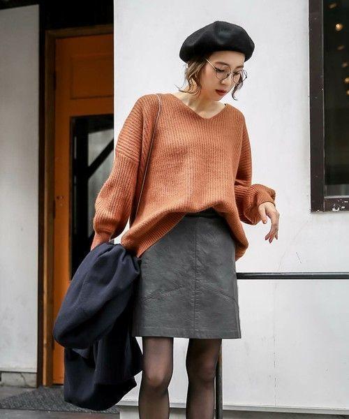 ≪今シーズントレンドNO.1≫台形スカートの着こなし技♡の10枚目の画像