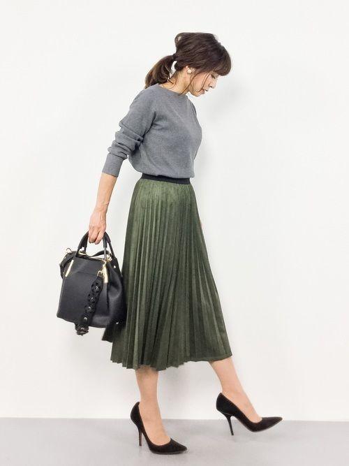社会人必見!レディースオフィスカジュアルのスカート着こなし大攻略の21枚目の画像
