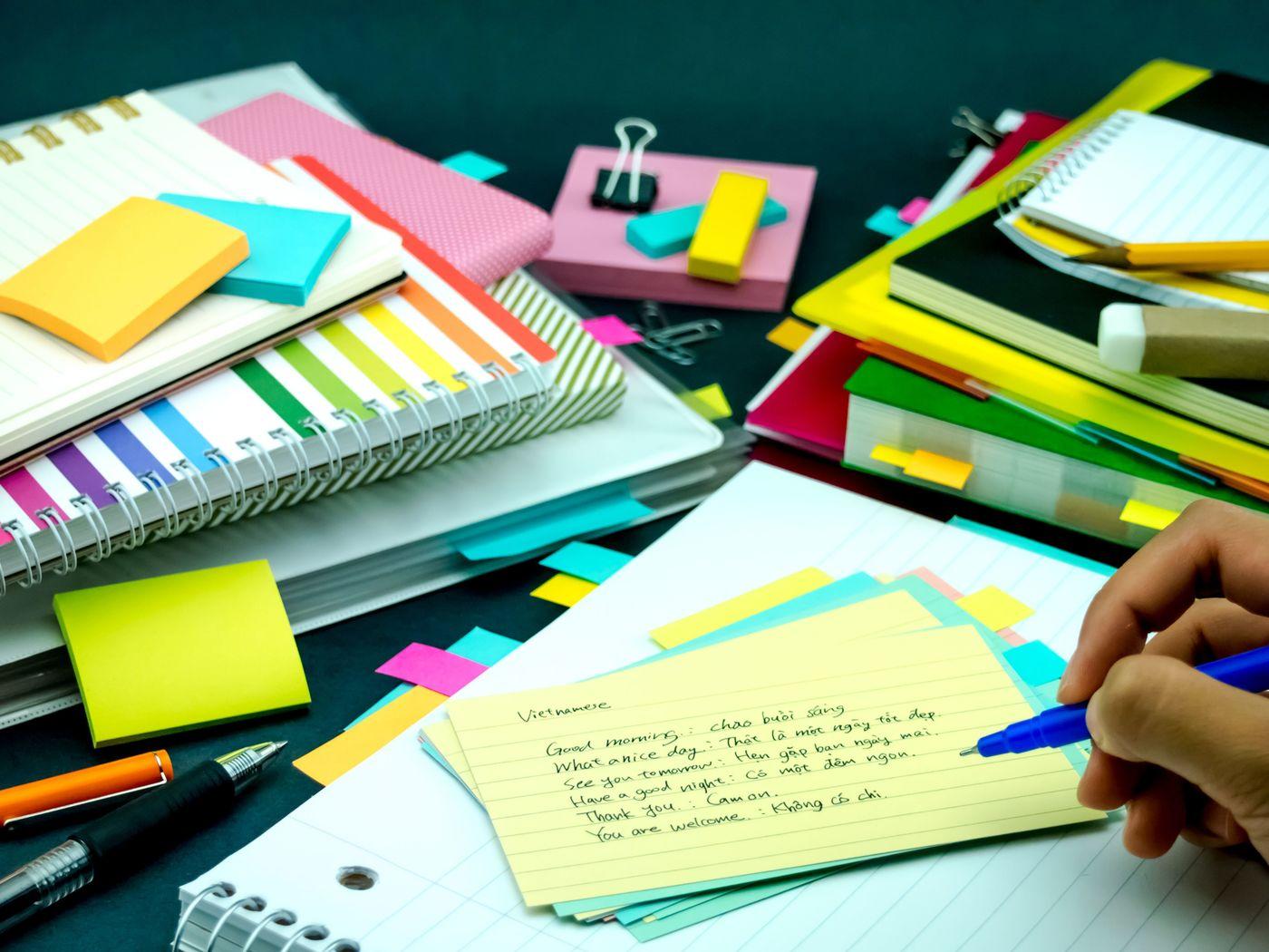 苦手な英語も楽しくなっちゃう♪かわいい付箋で賢いノート作りを!の2枚目の画像