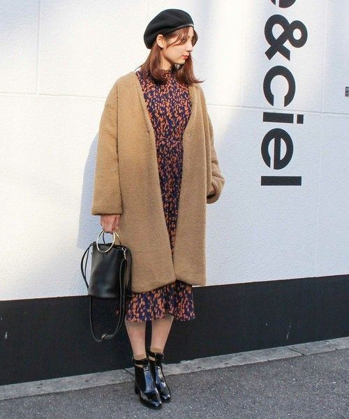 【レディース】今年の冬はノーカラーコートを着こなそう☆