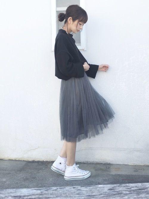 ≪全方位モテを叶える♡≫チュールスカートで作る春の好印象コーデ