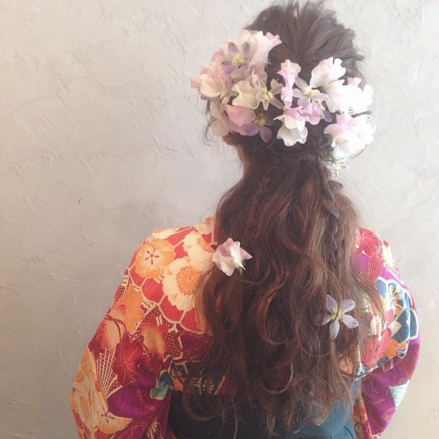 【卒業式】袴にはハーフアップ×リボンでパッと目を引く華やかヘア♡