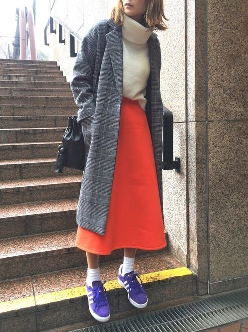 【旬ビタミンカラー】オレンジスカートの着こなしかたをレクチャー!の18枚目の画像